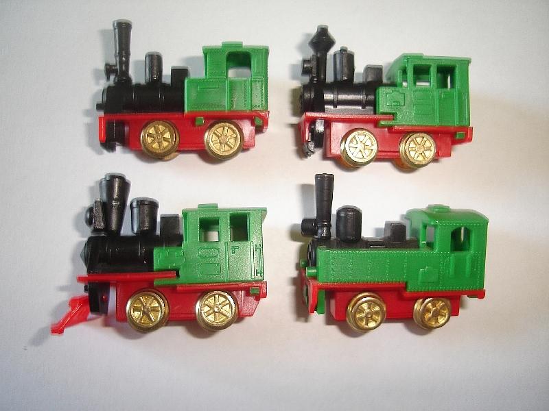 Details about GREEN STEAM ENGINES MODEL TRAINS SET 1993 1:160 N - KINDER  SURPRISE LOCOMOTIVES