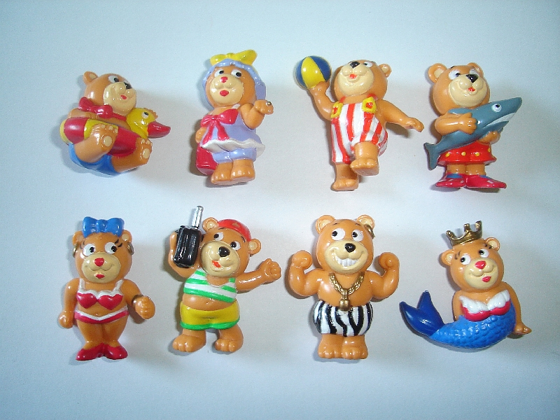 POM-BEAR TEDDIES BAND TEDDY BEARS FIGURINES SET FIGURES COLLECTIBLES MINIATURES