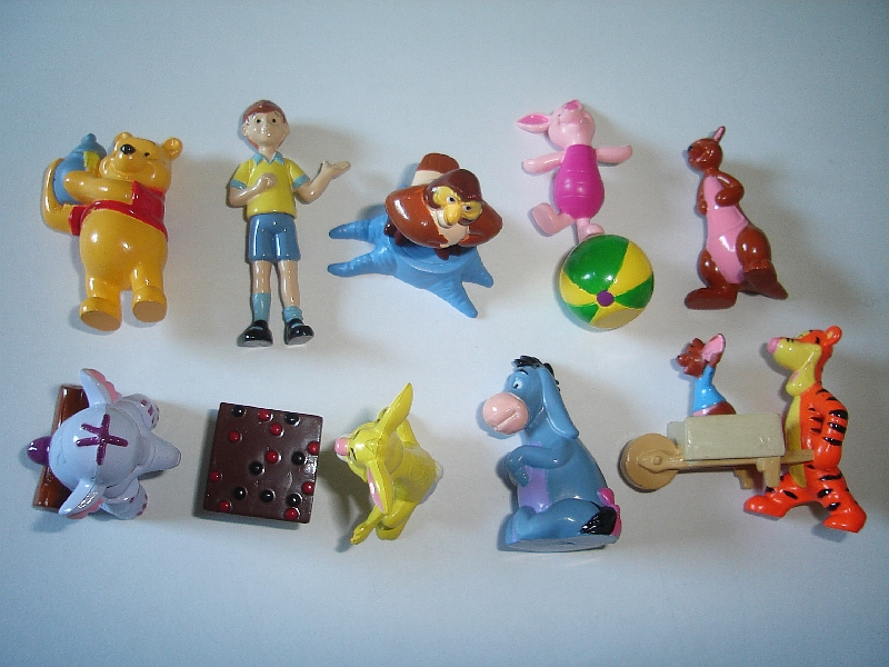 Complete Collectible Figures Set WINNIE THE POOH Toppers Rubezahl Koch