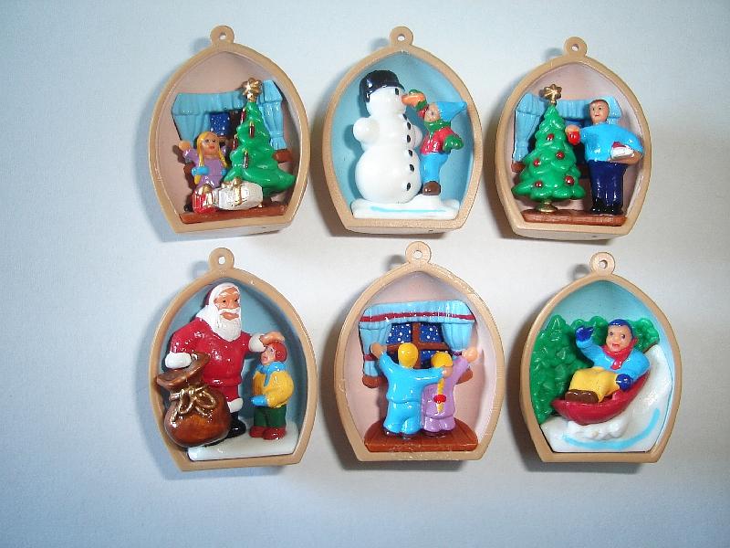 XMAS DECORATION CHRISTMAS PENDANTS PENDOLOTTI KINDER SURPRISE FIGURES ITALY