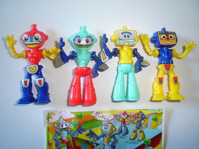 EXTRA ROBOTS MECHS KINDER SURPRISE SET TOYS FIGURES MINIATURES COLLECTIBLES