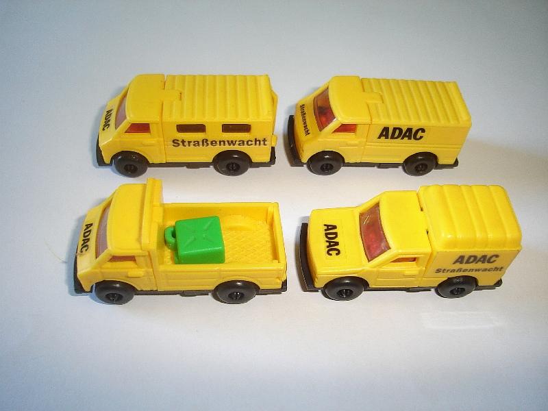 Details about GERMAN ADAC VEHICLES MODEL CARS SET 1:87 H0 - KINDER SURPRISE  PLASTIC MINIATURES
