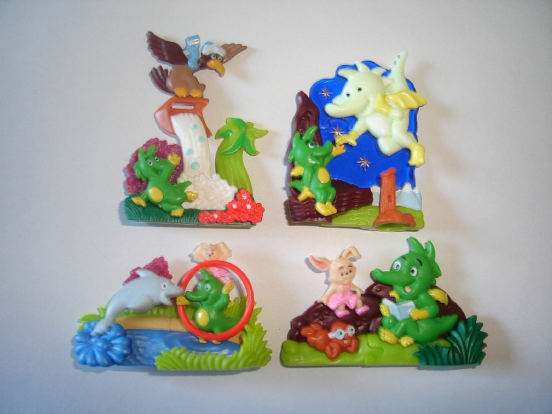 3D PUZZLE CAVEMEN /& DINOSAURS CHORE 1997 TOYS COLLECTIBLES KINDER SURPRISE SET