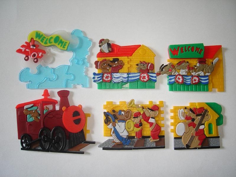 KINDER SURPRISE SET TOYS COLLECTIBLES 3D PUZZLE MARINE ANIMALS 1993
