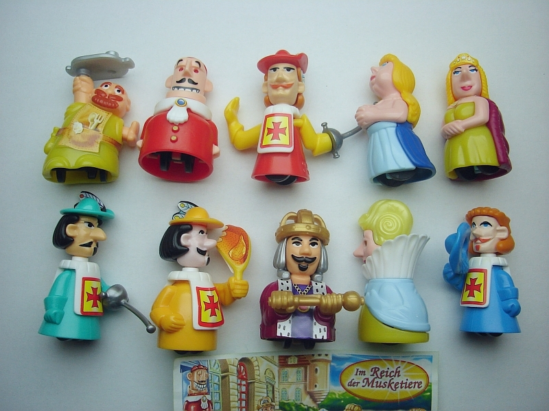 Kinder Surprise Set Musketeers Royal Suite Figures Collectibles Collectibles Ebay